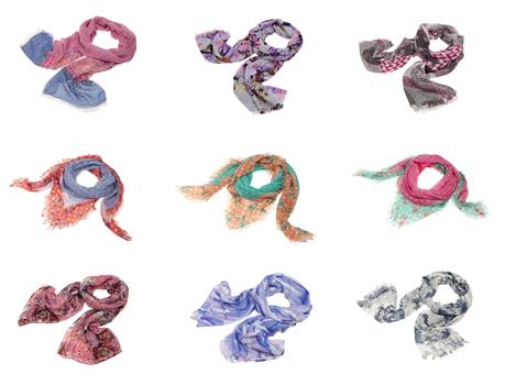 9 scarves